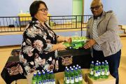 MEC VASS HANDING OVER 250 SANITIZERS AND SOAPS TO THE KAMIESBERG LOCAL  MUNICIPALITY